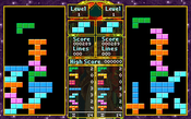 "Dual Pit Mode screen from Spectrum HoloByte's ""Tetris Classic"" for PC, circa 1992."